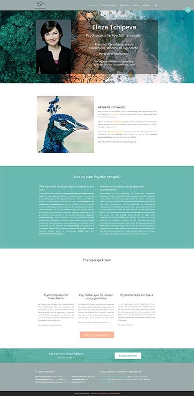 medfit Webdesign - Full-Service-Webagentur aus München für Webdesign, Suchmaschinenoptimierung (SEO) und Online Marketing - Kundenprojekt Praxis für Psychotherapie Elitza Tchipeva Screenshot 2